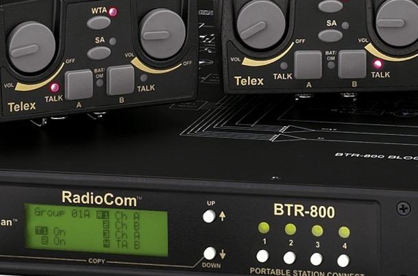 Telex BTR800 4-Beltpack Wireless Comm System